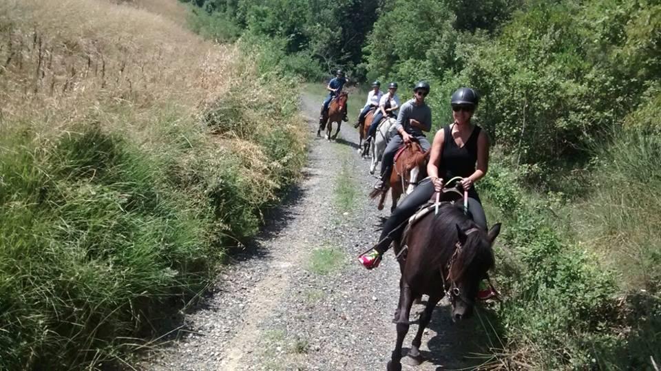 passeggiata a cavallo monte nera volterra